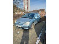 Car for spear or repair or part no cat Honda, CIVIC, Hatchback, 2002, Manual, 1590 (cc), 5 doors