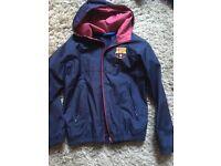 FC Barcelona raincoat, size 8/9