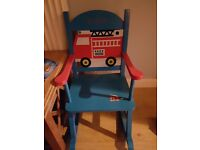 Personalised rocking chair with mr dylan written on it