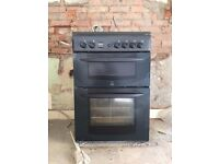 Indesit gas freestanding cooker (double oven)