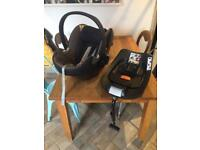 Cybex Aton Q baby car seat and isofix base