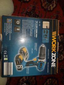 Workzone 18v combi drill