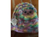 Smiggle fluffy swirl junior backpack 1 of 2 (NEW)