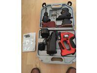 Black & Decker Quattro 14.4v Cordlless Drill/jigsaw/sander kit. Used Twice. Complete.