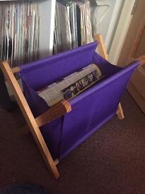 Purple material magazine rack