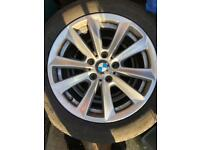 "Genuine 17"" BMW ALLOY WHEELS with tyres"