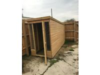 2x large dog kennels with run for sale