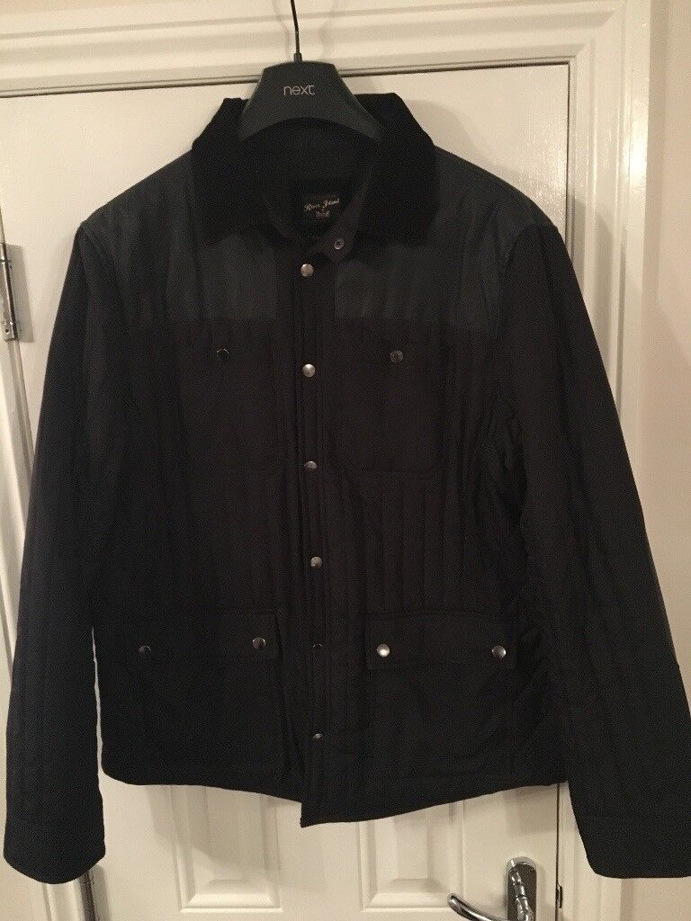Mens Barbour Style Jacket From River Island In Southside
