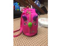 Lovely pink trunki as new with blanket n pillow