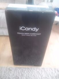 ICANDY PEACH CARRYCOT BLACK **BRAND NEW**