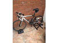 Road Bike - Merling S2200 56cm Frame + Turbo Trainer ( Quick Sale Needed )