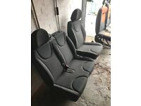 2007-2014 Peugeot expert dispatch scudo Drivers and passenger chairs seats