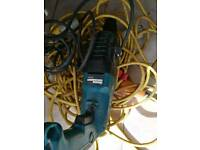 Makita 110v sds drill with extension lead