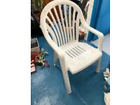 4x white garden patio chairs
