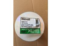 Maxell (Taiyo Yuden Japan) DVD-R 16x Inkjet Printable (100 Pack)