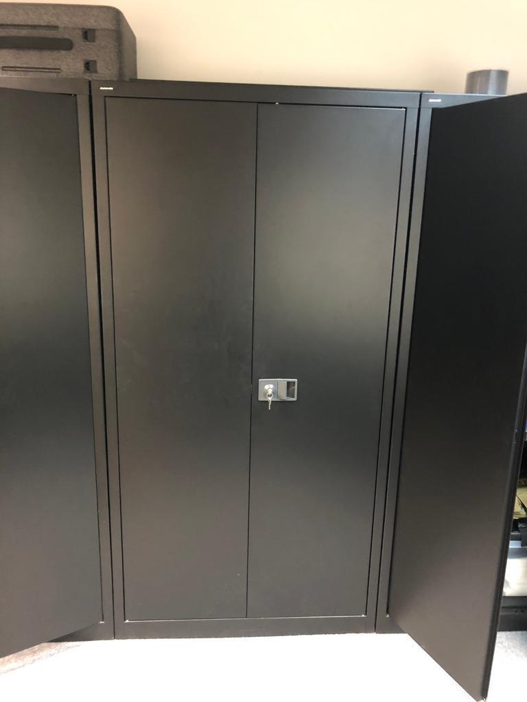 Black Metal Locking Office Cupboards