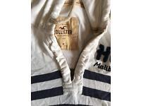 Hollister men's hoodie white