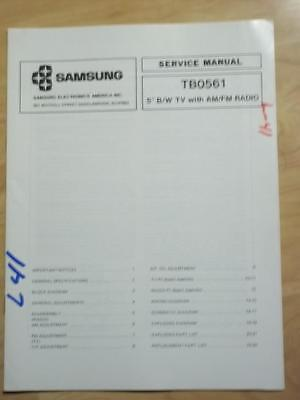 Samsung Service Manual for the TB0561 TV Radio   mp Samsung Tv Service Manual