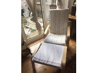 NURSING CHAIR IKEA POANG AND FOOTSTOOL