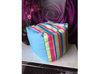 New Bean Cube Mineral Stripe Indoor/Outdoor Cube Garden Seat