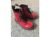 Red Patent leather Dr Marten boots