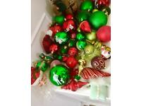 Beautiful Large Assortment Of Traditional Christmas Tree Baubles.