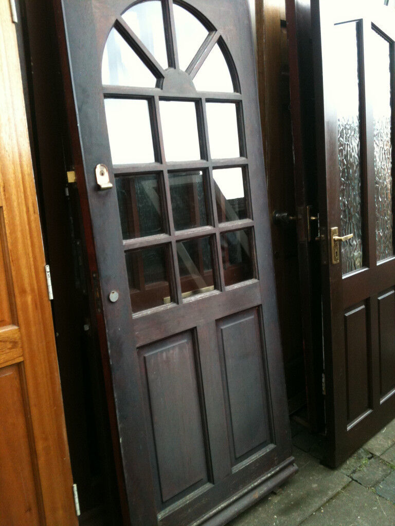 Exterior Hardwood Door With Clear Glass Squares In Malvern