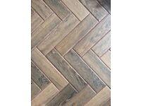 Porcelain wood effect parquet ceramic floor tiles