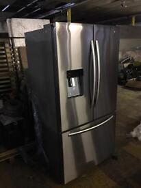 French style stainless steel fridge freezer ex display model never used American 3 door