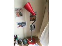 IKEA red desk lamp with bulb