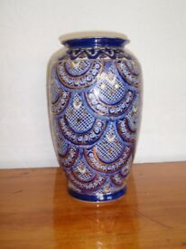 Large Blue and Gold Vase