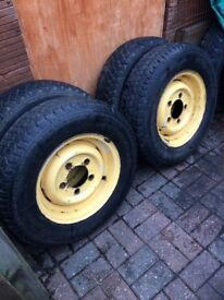 Land Rover rims with off Road tyres set of 4