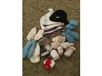 Bundle of baby socks, hats and booties