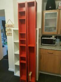Ikea Red Tall Dvd Cd Multimedia or general display shelves
