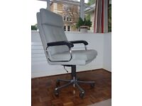 Retro Vintage Verco Captains Adjustable Office Chair & Two Matching Arm Chairs Haze Domani Farbric