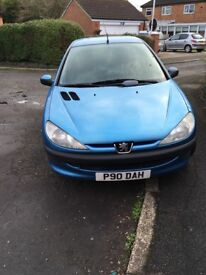 Peugeot 206, 2001 for sale, spares or repair