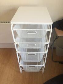 Used IKEA ALGOT Basket Storage System