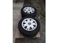 15 inch Wheel trims and tyres x 4