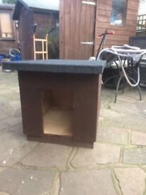 Small Handmade Wooden Dog Kennel