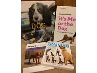 Dog behaviour and training books.