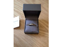 New in box Genuine Clogau Welsh gold wedding ring 4 grammes size P certificate authenticity
