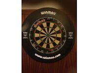 Blade 3 dart board with winmau surround. Mint, rarely used