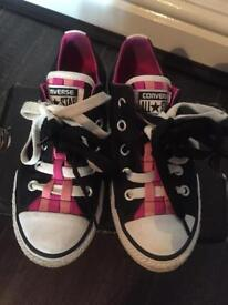 Girls converse trainers size 12
