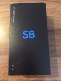 BOXED BRAND NEW SAMSUNG S8 BLACK 64GB MOBILE(UNLOCKED)