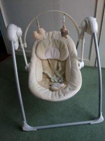 Lovely baby swing