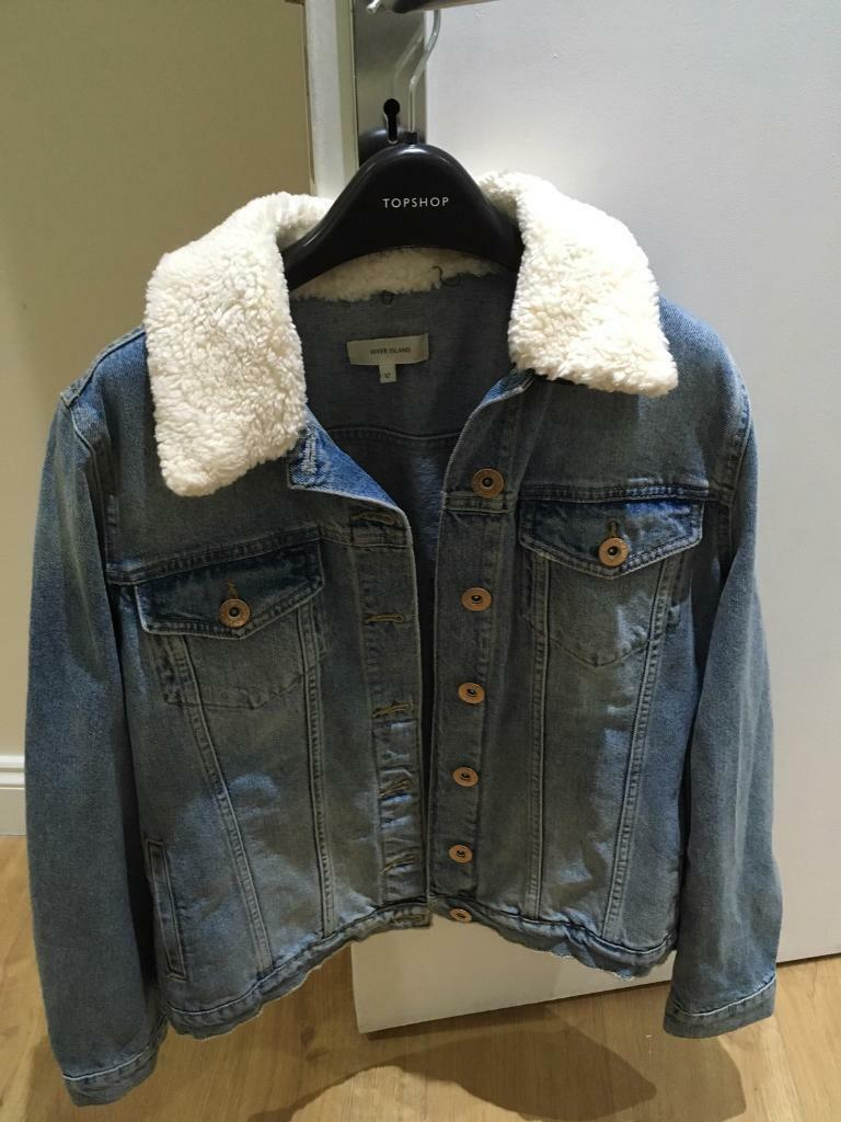 £30 ONO Quick sale-New size 12 River Island Denim Jacket.