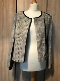 Ladies tweed suit jacket smart work wear size 10 New with tags