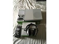 Xbox One S Mint Condition With Official Xbox Headphones And Recharge Kit