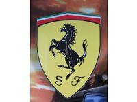 Ferrari wall clock