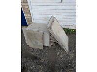 8 3x2 cleaned council concrete paving slabs plus extras